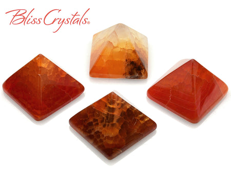 1 Snakeskin Agate Crystal PYRAMID Mini Polished Stone #SA41