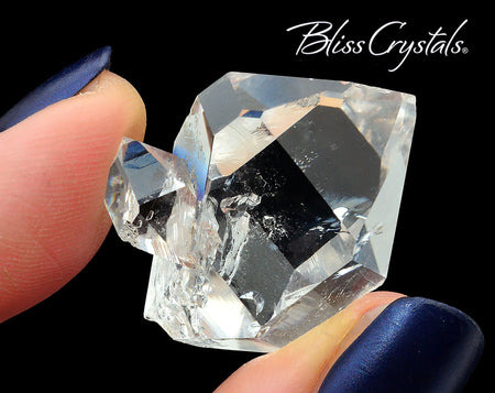"1.1"" HERKIMER HYDRO DIAMOND 60 Carat Stone Double Terminated Quartz #HG16"