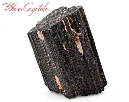 "3.6"" Black Tourmaline Rough Specimen Stone for Protection #BT105"