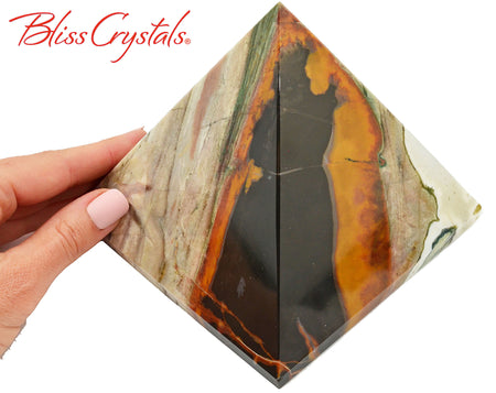 "3 lb Sardonyx 4"" Pyramid Polished Stone #SD50"