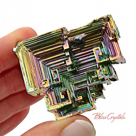 73 gm RAINBOW BISMUTH Crystal Man-made Specimen #BS34