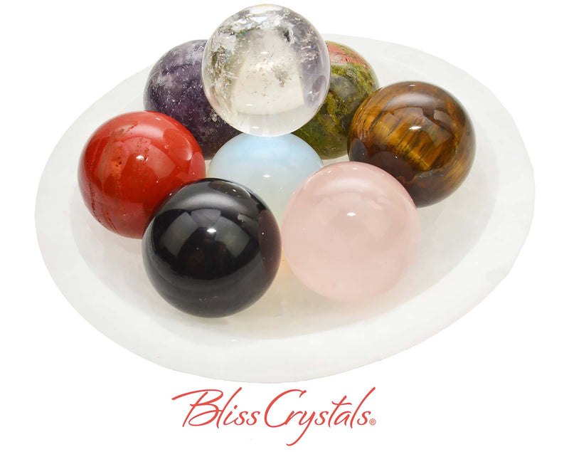 Set of 8 Marbles aka Mini Spheres Healing Crystal and Stones #SS60