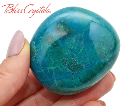 4.8 oz CHRYSOCOLLA Polished Stone for Divine Feminine Connection #CP76