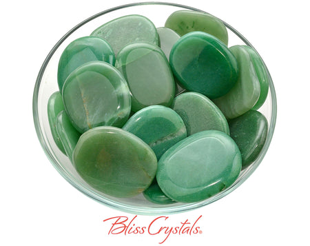 1 GREEN AVENTURINE XL Flat Palm Stone Healing Crystal and Stone for Prosperity #GP24