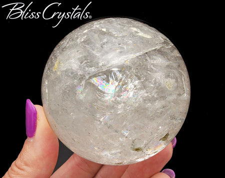 66mm Lemurian Quartz Polished Sphere + Stand Healing Crystal and Stone #LS58