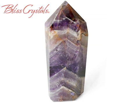 "4.7"" CHEVRON AMETHYST Polished Tower Healing Crystal and Stone for Peace #AG34"