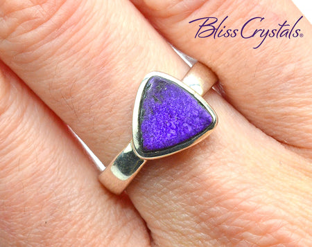 SUGILITE Ring Size 8.5 Triangular Stone Jewelry #SR91