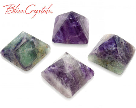 1 FLUORITE Crystal PYRAMID Mini Polished Stone #FP45