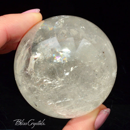 55 mm Clear Quartz CRYSTAL SPHERE + Stand Collector Quality #QS20
