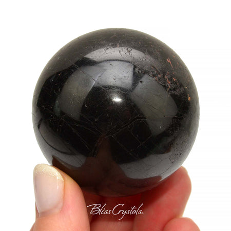 52 mm BLACK TOURMALINE Sphere + Stand #TS14