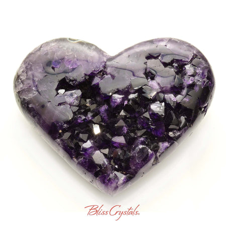 3 lb AMETHYST Heart Polished Edge Geode + Stand for Meditation #AH50 #shrm