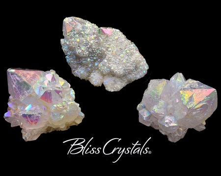 1 Rainbow Aura Cactus Quartz Point Angel Aura Spirit Fairy Quartz Healing Crystal and Stone #RA40