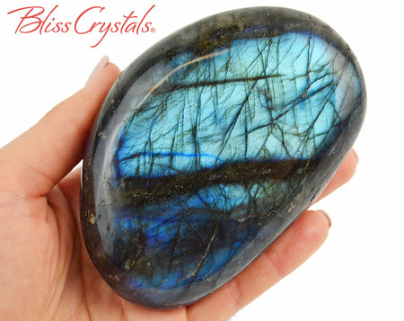 "4.3"" LABRADORITE Polished Palm Stone, Healing Crystal and Stone #LS87"