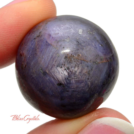 23 mm Black Star SAPPHIRE Mini SPHERE aka Purple Ruby Corundum Capricorn Birthstone #SS54