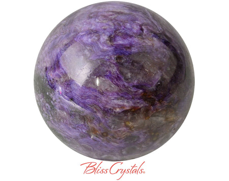 CHAROITE Sphere 51 mm + Stand 184 gm Grade A Crystal #CS96