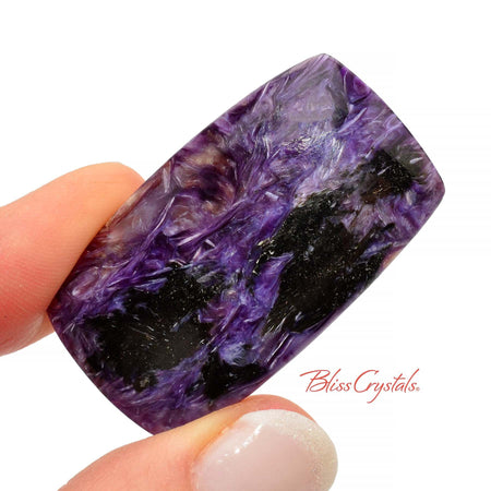 1.6 inch CHAROITE Polished Cabochon + Bag #CC17