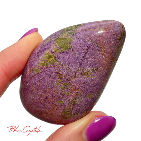 45 gm Lilac STICHTITE Atlantasite Polished Stone Grade A w Serpentine aka Zebra Stichtite #LS21