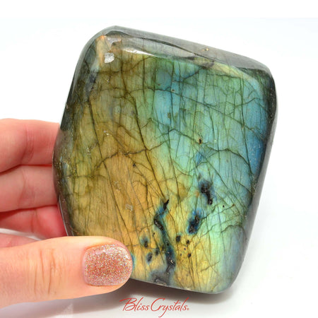 LABRADORITE 1 lb Freeform Specimen Polished Crystal for Magic #LF17