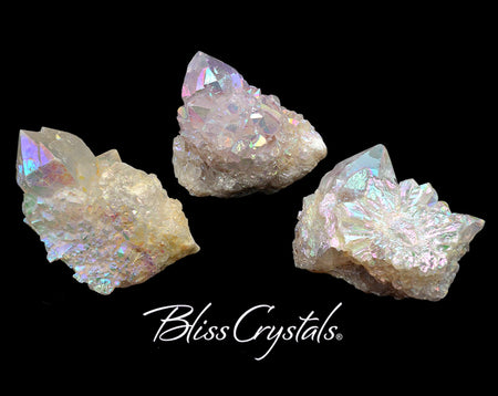 1 Rainbow Aura Cactus Quartz Point Angel Aura Spirit Fairy Quartz Healing Crystal and Stone #RA39