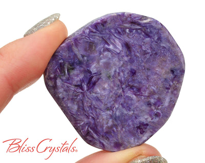 20 gm CHAROITE Flat Polished Palm Grade AA Healing Crystal and Stone for transformation #CS64