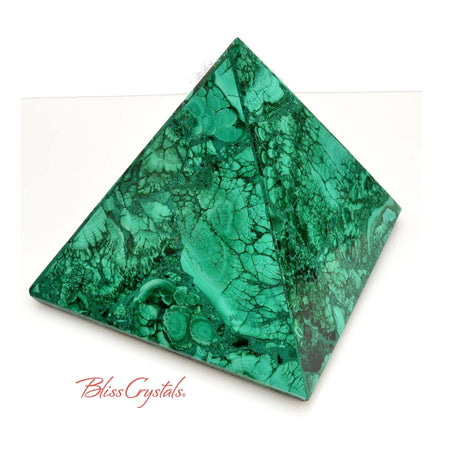 1 lb MALACHITE Pyramid 3.9 inch Collector Quality #MP19