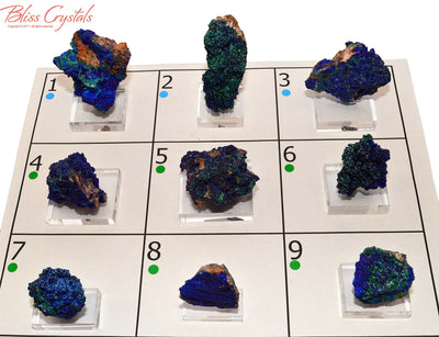 FLASH SALE - Azurite Malachite Specimen Mounted on Acrylic Base #AM01