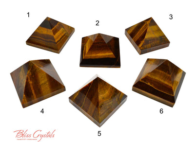 FLASH SALE - Tucson Reveal: Tigers Eye Polished Pyramids #TP02