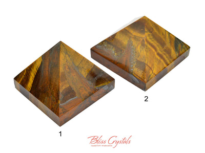 FLASH SALE - Tucson Reveal: Tigers Eye Polished Pyramids #TP03