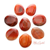 1 XL CARNELIAN Palm Stone Red Brown Grey Positive Energy #CP36