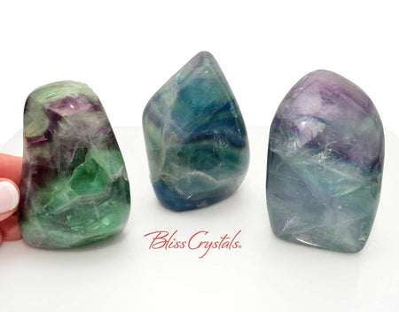 1 RAINBOW FLUORITE Polished Freeform Grade A #FF02