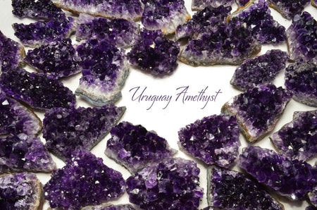 EQ! AMETHYST Uruguay Geode Cluster Rough Point (You Choose Size) Healing Crystal and Stone for Jewelry & Crafts #AM03
