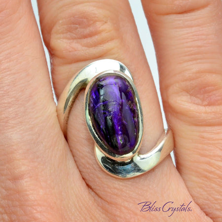 Sugilite Ring Size 6.5 Oval Stone Jewelry #SR59 #shrm