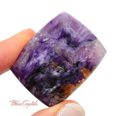 1.5 inch CHAROITE Polished Cabochon + Bag #CC20