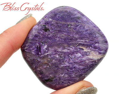 43 gm CHAROITE Polished Palm Grade AA Healing Crystal and Stone for transformation #CS61