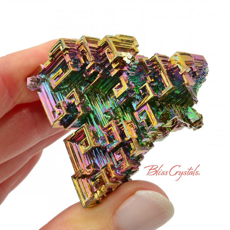 57 gm RAINBOW BISMUTH Crystal Man-made Specimen #BS35