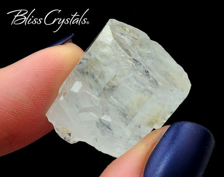 "1"" AQUAMARINE Rough Natural 7 gm Crystal Gemstone #AQ36"