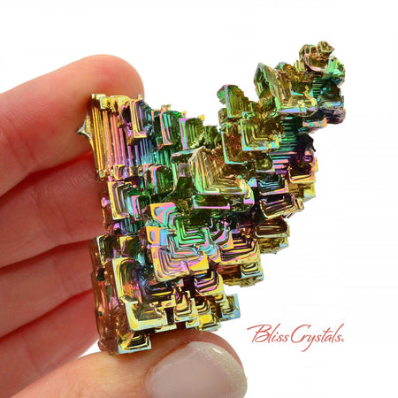 66 gm RAINBOW BISMUTH Crystal Man-made Specimen #BS32