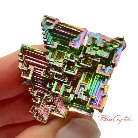 37 gm RAINBOW BISMUTH Crystal Man-made Specimen #BS31