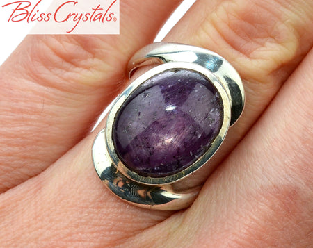 STAR RUBY Ring Size 5.75 Oval Stone Healing Crystal and Stone Jewelry #RR20
