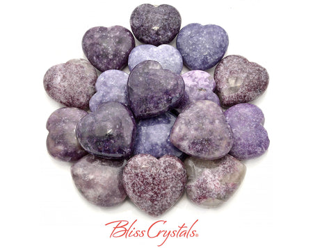 1 Lepidolite Heart Polished Stone Healing Crystal and Stone #LH25