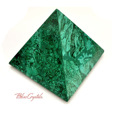 1 lb MALACHITE Pyramid 3.9 inch Collector Quality #MP21