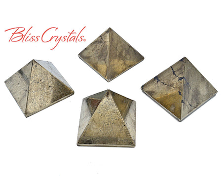 1 PYRITE Polished Pyramid for manifestion #PW19