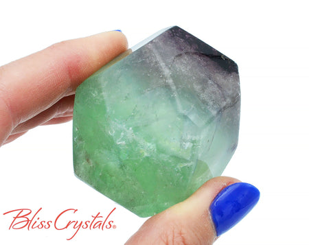 FLUORITE Polished Polygon Healing Crystal and Stone for Focus #FP28