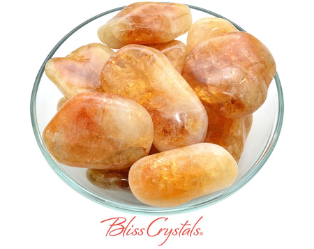 1 CITRINE Jumbo Tumbled Stone Gold Grade AB, Healing Crystal and Stone for Prosperity #CT52