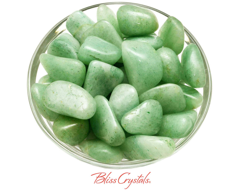 Light GREEN AVENTURINE Tumbled Stone Crystal Stone for Prosperity #GA01