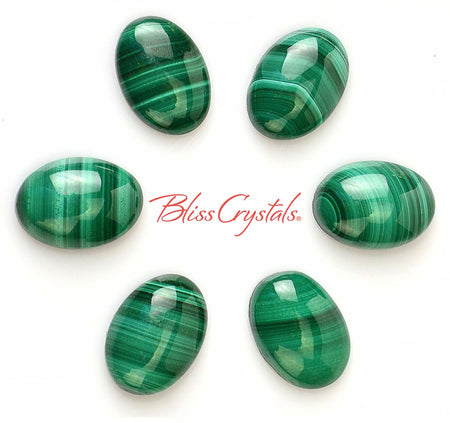 1 MALACHITE Polished Cabachon Oval Jewelry & Crafts Healing Crystal and Stone Tumbled Stone #MC03