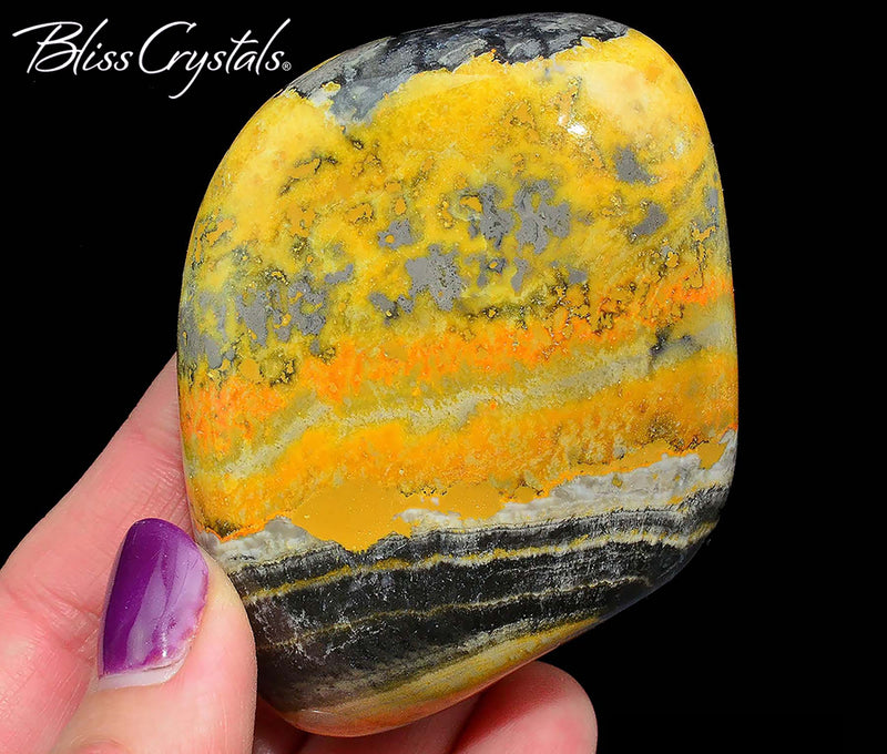2.4 inch BUMBLEBEE JASPER Polished Energy Stone #BJ48