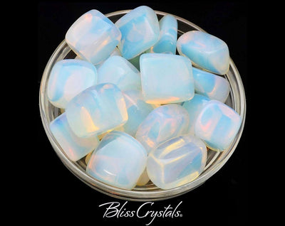 1 OPALITE Tumbled Stone Crystal for Stress Relief Man Made Opal Glass #OP01