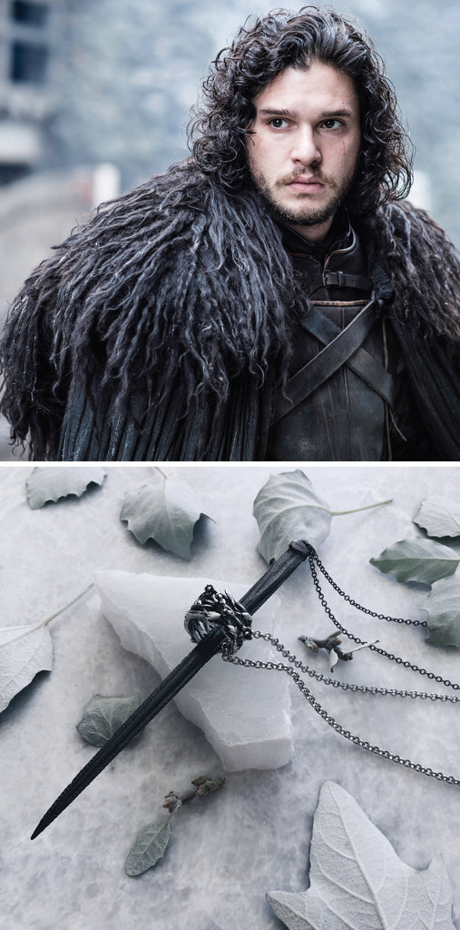 game of thrones jewellery - what jewelry will our favourite GoT characters wear - stingray barb necklace is perfect for the leader of the night watch Jon Snow