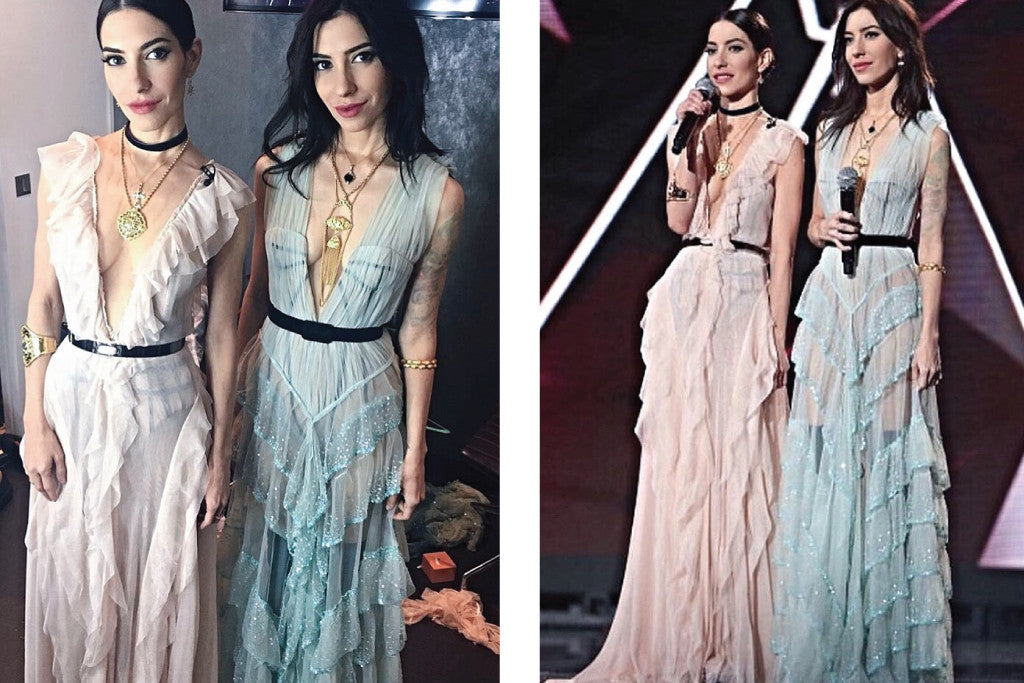 the veronicas wearing Au Revoir Les Filles jewellery to Arias Music Awards